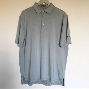 Peter Millar Summer Comfort Striped Polo Shirt Lrg